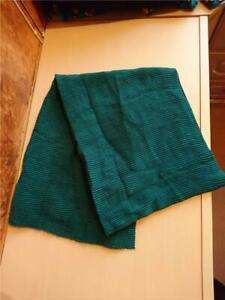 NEXT Ladies Winter Scarf - Green - Ridged Detail - Wide