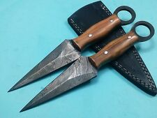Custom Handmade Damascus steel Hunting  dager knife with oliv wood  handle #A33