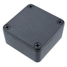 1590llbbk Original Hammond Negro Diecast Carcasa De Aluminio Caja (50 X 50 X 25 Mm)