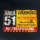 area 51 sign restricted area replica sign no trespass vintage looking sign