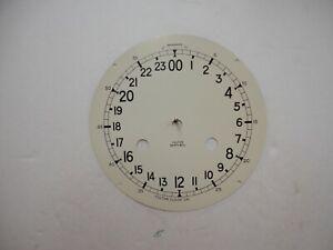 Fulton German Ships bell Clock Dial Salem Schatz Hermle 24 Hour Dial Off White