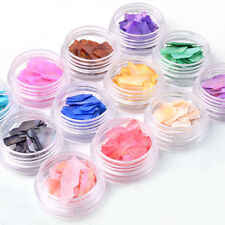 Glitter Natural Irregular Sequins Nail Art Tip Manicure Decoration 12 Color/Set