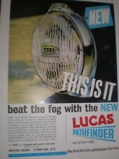 Beat the fog with Lucas pathfinder car accessories advert 1964 ref AY