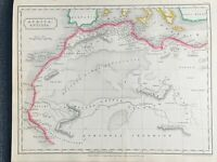 1829 ANCIENT AFRICA HAND COLOURED ANTIQUE MAP BY SIDNEY HALL 191 YRS OLD