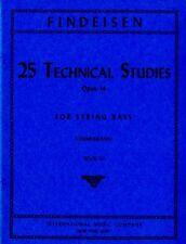 FINDEISEN, 25 Etudes techniques Opus 14 pour Contrebasse Livre 3