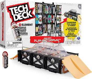 TECH DECK, Play and Display Transforming Ramp Set and Carrying Case with Exclusi