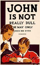 VINTAGE vista test sano occhi Pubblicità A2 poster stampa