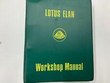 Lotus Elan 1970 Original Loose Leaf Factory Workshop Service Manual