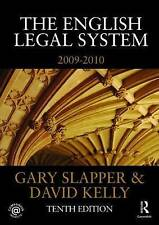 The English Legal System: 2009-2010 by Gary Slapper, David Kelly (Paperback, 20…