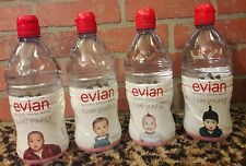 Evian Natural Spring Water 750 Sport Cap LIVE YOUNG Babys Rare Collectible LOT 4