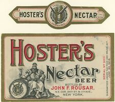 Hoster'S Nectar Beer, New York, Label, Neck Label & Invoice Pre-Pro Brewery