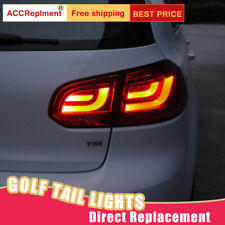For Volkswagen Golf 6 LED Taillights Assembly Dark/Red LED Rear Lamps 2010-2013