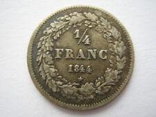 Belgique 1844 argent 1/4 franc VF