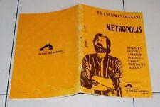 Spartiti FRANCESCO GUCCINI Metropolis - 1981 Songbook Sheet music
