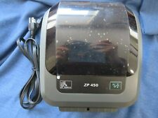 Zebra ZP 450 Label Thermal Printer USB With Power Supply UPS