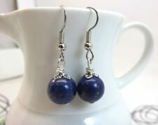 Lapis Silver Plated Handcrafted Earrings