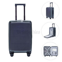 US 36L 20inch Suitcase Double TSA Lock Carry On Luggage  360° Wheel Case Travel