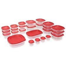 Rubbermaid 50 piece Food Plastic Storage Containers Set Snapon Lids Kitchen Home