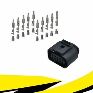 Buchse 10-polig Reparatursatz 1J0973715 für VW AUDI SKODA SEAT MT Crimp Kontakt
