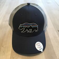 Patagonia Fitz Roy Bear Trucker Hat New With Tags - Navy Blue