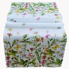Tischläufer 40 x 140 cm Tischdecke Ostern Frühling bunt Blumen Schmetterlinge