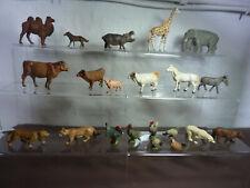 großes Miniaturkonvolut von Elastolin mit 21 Tieren !