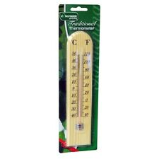 PACK OF 2 WOODEN THERMOMETERS IDEAL FOR HOME GREENHOUSE SHED GARAGE GSTH02 X 2