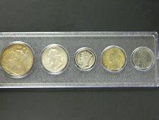 1943 Year Set, All 5 Coins Cent thru Half Dollar Complete Set
