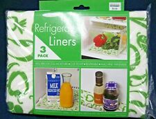 "New Refrigerator Liners 3 Pack Absorbs Moisture 12"" X 24"" Green Heart Veggies"