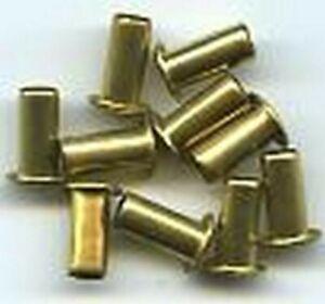 "3/16""x3/8"" Solid Brass EYELETS (10) for Standard Gauge Trains"