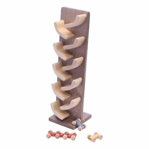 Amish-Made Wooden Mini Car Roller Toy (Walnut/Maple)
