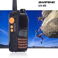 1* Baofeng UV-6R Walkie Talkie Dual Band 136-174/400-520MHz Transceiver 7-Watt