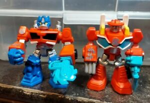 Imaginext Playskool figure Transformer Rescue Bots Heatwave & Optimus