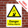 Danger falling objects sign CONS030 Site notices and safety signs