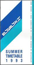 El Al Israeli Airlines system timetable 3/28/93 [8062]