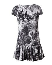 Emilio De La Morena Black Floral Printed Silk Dress