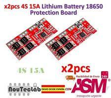 2pcs 4S 15A Li-ion Lithium Battery 18650 Charger Protection Board