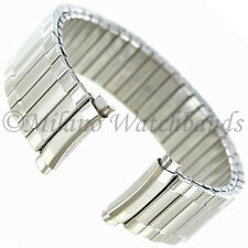 16-19mm Speidel Silver Tone Twist-O-Flex Curved End Metal Watch Band 1241/02L