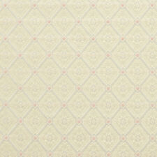 D137 Gold Pink And White Diamond Brocade Upholstery Fabric By The Yard