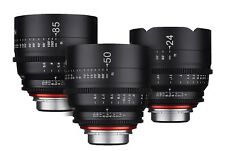New Rokinon Xeen 14mm T3.1, 35mm T1.5, 50mm T1.5 Three Lens Set For PL Mount