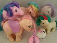 Vintage My Little Pony G1 LOT OF 5 Whizzer Snuzzle Parasol Blossom Baby Gusty