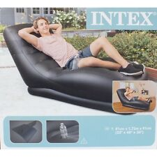 Armchair Inflatable of Vinyl Intex XXL with Shaped Longue Interior and Exterior