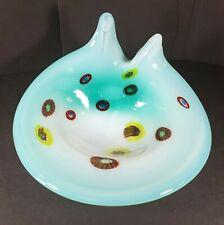 Millefiori Studio Hand Crafted Art Glass Bowl Dish