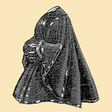 Victorian Coat Civil War Velvet Cloak Cape PATTERN Fancy One-Size Fits Most