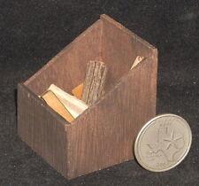 Dollhouse Miniature Wood Log Fire Box 1:12 Fireplace Rustic Camp Cabin #WO1956