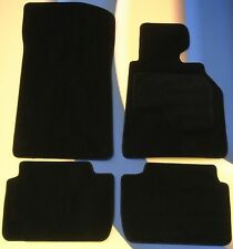 BMW 1 SERIES CABRIO/COUPE E82/E88 08 on TAIL BLACK CAR FLOOR MATS + 4 x PADS B