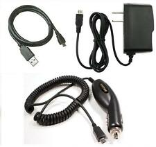 Car+Wall AC Charger+USB Cable for TMobile LG True 450 LG450 LG-B450, dLite GD570