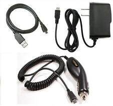 Car+Wall AC Charger+USB Cable Cord for ATT LG B470, GU292, GU295, Neon 2 GW370
