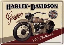 Harley Davidson Fleathead Blechschild 10x14 cm Blechkarte 10122 Sign
