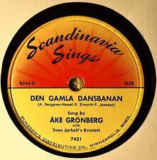 Ake Gronberg Den Gamla Dansbanan Swedish 78 Scandinavia Sings Dans I Lillstugan